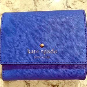 Kate Spade cobalt blue wallet, used